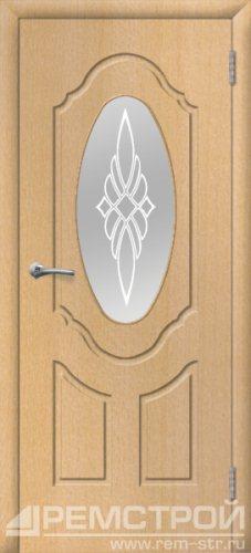 межкомнатные двери, Ремстрой, двери Пенза, двери Заречный, экошпон , модель Прима-1, бук, каталог San Remo, со стеклом, с рисунком, с фьюзингом, глухая, комплект, дверное полотно, коробка, наличник, добор, притворная планка, монтаж, установка, производство, от производителя, фурнитура, ручки, петли, защелки, двери купе.