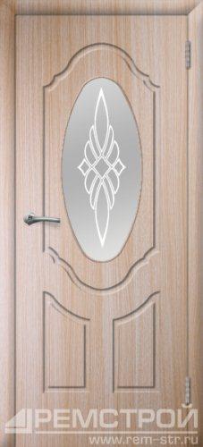 межкомнатные двери, Ремстрой, двери Пенза, двери Заречный, экошпон , модель Прима-1, дуб выбеленный, каталог San Remo, со стеклом, с рисунком, с фьюзингом, глухая, комплект, дверное полотно, коробка, наличник, добор, притворная планка, монтаж, установка, производство, от производителя, фурнитура, ручки, петли, защелки, двери купе.