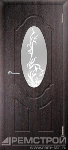 межкомнатные двери, Ремстрой, двери Пенза, двери Заречный, экошпон , модель Прима-1, венге, каталог San Remo, со стеклом, с рисунком, с фьюзингом, глухая, комплект, дверное полотно, коробка, наличник, добор, притворная планка, монтаж, установка, производство, от производителя, фурнитура, ручки, петли, защелки, двери купе.