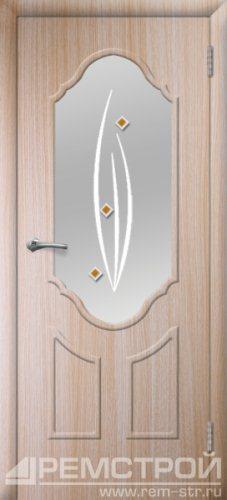 межкомнатные двери, Ремстрой, двери Пенза, двери Заречный, экошпон , модель Прима2, дуб выбеленный, каталог San Remo, со стеклом, с рисунком, с фьюзингом, глухая, комплект, дверное полотно, коробка, наличник, добор, притворная планка, монтаж, установка, производство, от производителя, фурнитура, ручки, петли, защелки, двери купе.