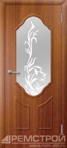 межкомнатные двери, Ремстрой, двери Пенза, двери Заречный, экошпон , модель Прима2, каштан, каталог San Remo, со стеклом, с рисунком, с фьюзингом, глухая, комплект, дверное полотно, коробка, наличник, добор, притворная планка, монтаж, установка, производство, от производителя, фурнитура, ручки, петли, защелки, двери купе.