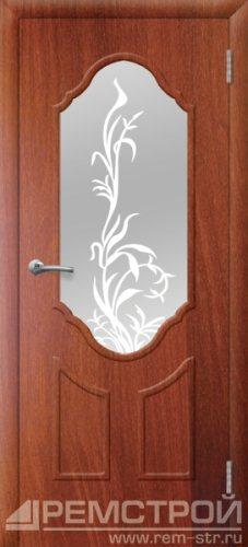 межкомнатные двери, Ремстрой, двери Пенза, двери Заречный, экошпон , модель Прима2, орех итальянский, каталог San Remo, со стеклом, с рисунком, с фьюзингом, глухая, комплект, дверное полотно, коробка, наличник, добор, притворная планка, монтаж, установка, производство, от производителя, фурнитура, ручки, петли, защелки, двери купе.