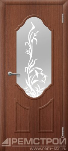 межкомнатные двери, Ремстрой, двери Пенза, двери Заречный, экошпон , модель Прима2, орех тисненый, каталог San Remo, со стеклом, с рисунком, с фьюзингом, глухая, комплект, дверное полотно, коробка, наличник, добор, притворная планка, монтаж, установка, производство, от производителя, фурнитура, ручки, петли, защелки, двери купе.
