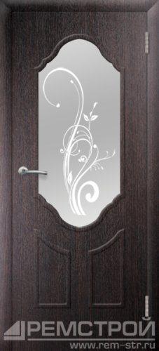 межкомнатные двери, Ремстрой, двери Пенза, двери Заречный, экошпон , модель Прима2, венге, каталог San Remo, со стеклом, с рисунком, с фьюзингом, глухая, комплект, дверное полотно, коробка, наличник, добор, притворная планка, монтаж, установка, производство, от производителя, фурнитура, ручки, петли, защелки, двери купе.