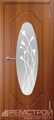 межкомнатные двери, Ремстрой, двери Пенза, двери Заречный, экошпон , модель Престиж-2, каштан, каталог San Remo, со стеклом, с рисунком, с фьюзингом, глухая, комплект, дверное полотно, коробка, наличник, добор, притворная планка, монтаж, установка, производство, от производителя, фурнитура, ручки, петли, защелки, двери купе.