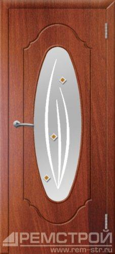 межкомнатные двери, Ремстрой, двери Пенза, двери Заречный, экошпон , модель Престиж-2, орех итальянский, каталог San Remo, со стеклом, с рисунком, с фьюзингом, глухая, комплект, дверное полотно, коробка, наличник, добор, притворная планка, монтаж, установка, производство, от производителя, фурнитура, ручки, петли, защелки, двери купе.