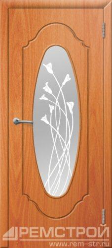 межкомнатные двери, Ремстрой, двери Пенза, двери Заречный, экошпон , модель Престиж-2, орех миланский, каталог San Remo, со стеклом, с рисунком, с фьюзингом, глухая, комплект, дверное полотно, коробка, наличник, добор, притворная планка, монтаж, установка, производство, от производителя, фурнитура, ручки, петли, защелки, двери купе.
