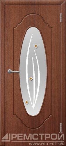 межкомнатные двери, Ремстрой, двери Пенза, двери Заречный, экошпон , модель Престиж-2, орех тисненый, каталог San Remo, со стеклом, с рисунком, с фьюзингом, глухая, комплект, дверное полотно, коробка, наличник, добор, притворная планка, монтаж, установка, производство, от производителя, фурнитура, ручки, петли, защелки, двери купе.