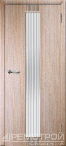 межкомнатные двери, Ремстрой, двери Пенза, двери Заречный, экошпон , модель Оскар, дуб выбеленный, каталог San Remo, со стеклом, с рисунком, с фьюзингом, глухая, комплект, дверное полотно, коробка, наличник, добор, притворная планка, монтаж, установка, производство, от производителя, фурнитура, ручки, петли, защелки, двери купе.