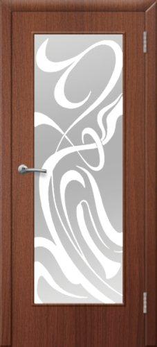 межкомнатные двери, Ремстрой, двери Пенза, двери Заречный, экошпон , модель Фантазия, орех тисненый, каталог San Remo, со стеклом, с рисунком, с фьюзингом, глухая, комплект, дверное полотно, коробка, наличник, добор, притворная планка, монтаж, установка, производство, от производителя, фурнитура, ручки, петли, защелки, двери купе.