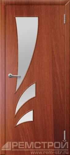 межкомнатные двери, Ремстрой, двери Пенза, двери Заречный, экошпон , модель Джаз, орех итальянский, каталог San Remo, со стеклом, с рисунком, с фьюзингом, глухая, комплект, дверное полотно, коробка, наличник, добор, притворная планка, монтаж, установка, производство, от производителя, фурнитура, ручки, петли, защелки, двери купе.