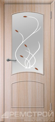 межкомнатные двери, Ремстрой, двери Пенза, двери Заречный, экошпон , модель Классика, дуб выбеленный, каталог San Remo, со стеклом, с рисунком, с фьюзингом, глухая, комплект, дверное полотно, коробка, наличник, добор, притворная планка, монтаж, установка, производство, от производителя, фурнитура, ручки, петли, защелки, двери купе.