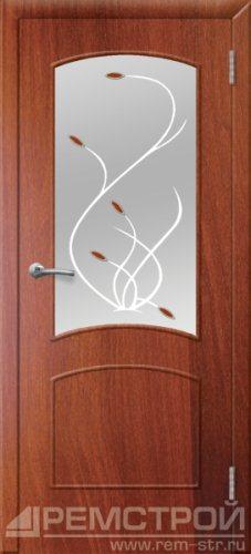 межкомнатные двери, Ремстрой, двери Пенза, двери Заречный, экошпон , модель Классика, орех итальянский, каталог San Remo, со стеклом, с рисунком, с фьюзингом, глухая, комплект, дверное полотно, коробка, наличник, добор, притворная планка, монтаж, установка, производство, от производителя, фурнитура, ручки, петли, защелки, двери купе.