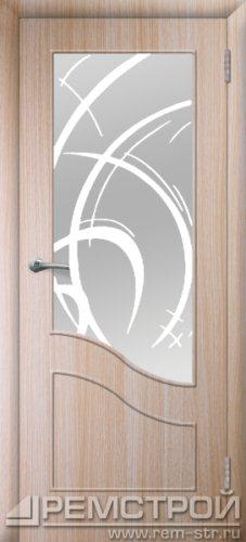 межкомнатные двери, Ремстрой, двери Пенза, двери Заречный, экошпон , модель Шарм, дуб выбеленный, каталог San Remo, со стеклом, с рисунком, с фьюзингом, глухая, комплект, дверное полотно, коробка, наличник, добор, притворная планка, монтаж, установка, производство, от производителя, фурнитура, ручки, петли, защелки, двери купе.