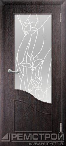 межкомнатные двери, Ремстрой, двери Пенза, двери Заречный, экошпон , модель Шарм, венге, каталог San Remo, со стеклом, с рисунком, с фьюзингом, глухая, комплект, дверное полотно, коробка, наличник, добор, притворная планка, монтаж, установка, производство, от производителя, фурнитура, ручки, петли, защелки, двери купе.