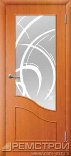 межкомнатные двери, Ремстрой, двери Пенза, двери Заречный, экошпон , модель Шарм, вишня форема, каталог San Remo, со стеклом, с рисунком, с фьюзингом, глухая, комплект, дверное полотно, коробка, наличник, добор, притворная планка, монтаж, установка, производство, от производителя, фурнитура, ручки, петли, защелки, двери купе.