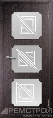 межкомнатные двери, Ремстрой, двери Пенза, двери Заречный, экошпон , модель Маэстро, венге, каталог San Remo, со стеклом, с рисунком, с фьюзингом, глухая, комплект, дверное полотно, коробка, наличник, добор, притворная планка, монтаж, установка, производство, от производителя, фурнитура, ручки, петли, защелки, двери купе.