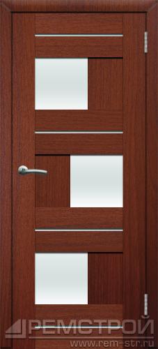 межкомнатные двери, Ремстрой, двери Пенза, двери Заречный, экошпон , модель Твист1, орех тисненый, каталог San Remo, со стеклом, с рисунком, с фьюзингом, глухая, комплект, дверное полотно, коробка, наличник, добор, притворная планка, монтаж, установка, производство, от производителя, фурнитура, ручки, петли, защелки, двери купе.